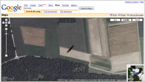 bug sur google maps