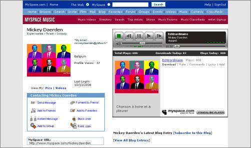 MySpace.com/MickeyDaerden