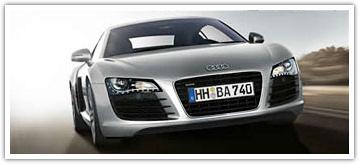 Audi R8 avec led à l'avant