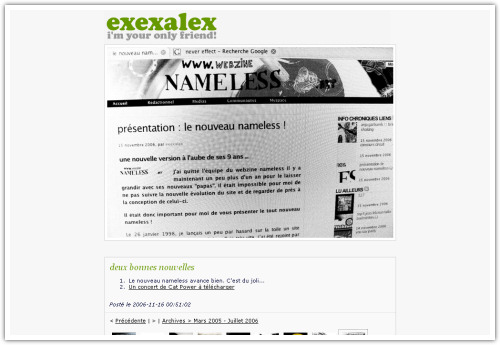 exexalex.be - WebzineNameless.net