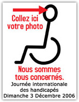 Journ�e internationale des handicap�s - 03.12.2006